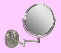 Nickel Make Up Mirror Wall Mounted Strong 7X For Makeup