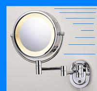 Hardwired Chrome 8 Lighted Makeup Mirror