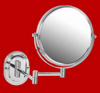 Chrome Make Up Mirror Wall Mounted Strong 7X For Makeup