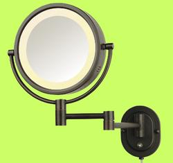 Hardwire Bronze 8 Lighted Makeup Mirror